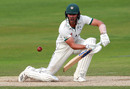 Tom Fell steers into the off side, Northamptonshire v Worcestershire, Bob Willis Trophy, Wantage Road, August 17, 2020