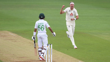 Stuart Broad jumped to No. 2 in the bowlers' rankings, while Babar Azam returned in the top five in the batsmen's list