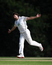James Fuller claimed the first hat-trick of the Bob Willis Trophy, Hampshire v Surrey, Bob Willis Trophy, Arundel, August 18, 2020
