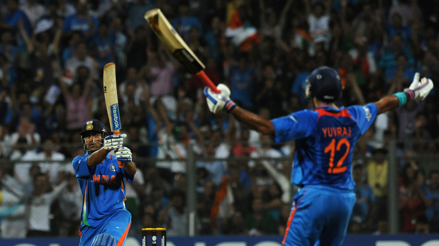 Unspeakable horror (if you're Sri Lankan): Dhoni finishes the 2011 World Cup final