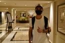 Delhi Capitals' Ajinkya Rahane arrives at the team hotel, Mumbai, August 20, 2020