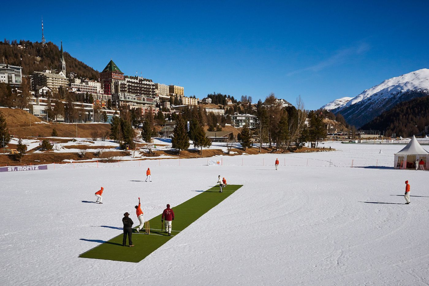 No business like snow business: St Moritz's annual Cricket on Ice tournament has managed to attract a fair few big names in cricket