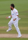 Yasir Shah is pumped after making a breakthrough, England v Pakistan, 3rd Test, Southampton, 1st day, August 21, 2020