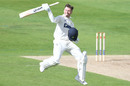 Callum Taylor celebrates after bringing up his hundred on first-class debut, Northamptonshire v Glamorgan, Bob Willis Trophy, 1st day, Wantage Road, August 22, 2020