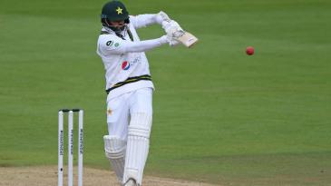Azhar Ali rolls his wrists on a pull