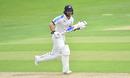 Adam Lyth runs between the wickets, day two, Bob Willis Trophy, Yorkshire v Lancashire. Emerald Headingley, August 23, 2020