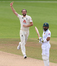 Chris Woakes claimed the wicket of Mohmmad Rizwan, England v Pakistan, 3rd Test, Southampton, 3rd day, August 23, 2020