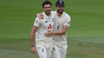 James Anderson finally claimed his fifth wicket