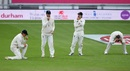 The slip cordon of Zak Crawley, Dom Sibley, Rory Burns and Joe Root can't quite believe that yet another chance has gone down, England v Pakistan, 3rd Test, Southampton, 3rd day, August 23, 2020