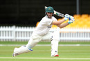 Colin Ackermann flays through the off side, Leicestershire v Durham, Bob Willis Trophy, Grace Road, August 15, 2020