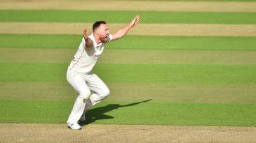 Danny Lamb appeals for a wicket