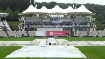 The covers were on but the rain on Day 5 morning was persistent