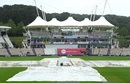 The covers were on but the rain on Day 5 morning was persistent, England v Pakistan, 3rd Test, Southampton, 5th day, August 25, 2020