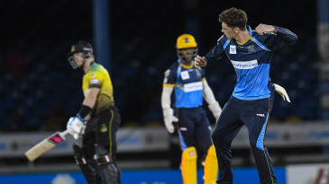 Mitchell Santner dismissed compatriot Glenn Phillips in the first over of the chase