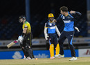 Mitchell Santner dismissed compatriot Glenn Phillips in the first over of the chase, Jamaica Tallawahs v Barbados Tridents, Port-of-Spain, CPL, August 26, 2020