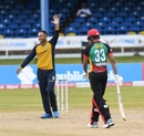 Mohammad Nabi celebrates his five-wicket haul, St Kitts and Nevis Patriots v St Lucia Zouks, Port-of-Spain, August 27, 2020