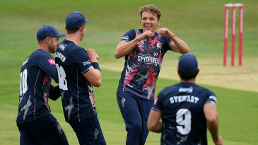 Matt Milnes celebrates a breakthrough