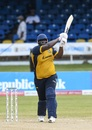 Rahkeem Cornwall smashes one over long-off, St Kitts and Nevis Patriots v St Lucia Zouks, Port-of-Spain, August 27, 2020