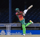 Keemo Paul launches one into the night sky, Trinbago Knight Riders v Guyana Amazon Warriors, Port-of-Spain, CPL, August 27, 2020