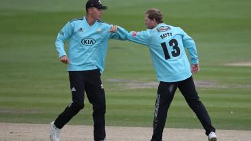 Veteran spinner Gareth Batty was in the wickets