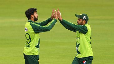 Shadab Khan claimed the key wicket of Tom Banton