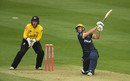 Chris Cooke goes over the off side, Gloucestershire v Glamorgan, Vitality Blast, Bristol, August 29, 2020