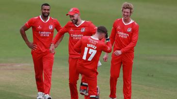 Tom Bailey celebrates a breakthrough
