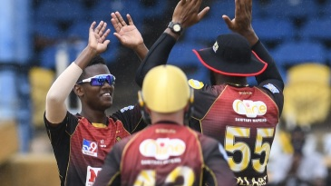 Akeal Hosein struck with the new ball for Trinbago Knight Riders