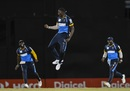 A pumped up Jason Holder celebrates a wicket, Jamaica Tallawahs v Barbados Tridents, Port-of-Spain, CPL, August 26, 2020