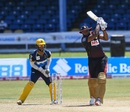 Kieron Pollard launches one over the ropes, Trinbago Knight Riders v Barbados Tridents, Queen's Park Oval, CPL 2020, August 29, 2020