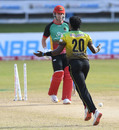 Fidel Edwards cleaned up Chris Lynn, Jamaica Tallawahs v St Kitts and Nevis Patriots, Port of Spain, CPL 2020, August 29, 2020
