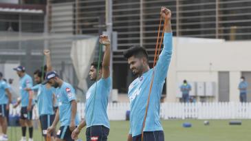 Shreyas Iyer and the Delhi Capitals train at the ICC Academy