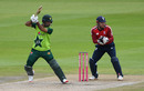 Fakhar Zaman punches off side, England v Pakistan, 2nd T20I, Old Trafford, August 30, 2020