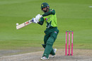 Mohammad Hafeez keeps his eye on the ball, England v Pakistan, 2nd T20I, Old Trafford, August 30, 2020