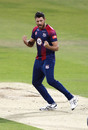 Nathan Buck celebrates a wicket, Northamptonshire v Birmingham, Vitality T20 Blast, Wantage Road, September 1, 2020