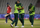 Wahab Riaz gets a hug, England v Pakistan, 3rd T20I, Old Trafford, September 1, 2020