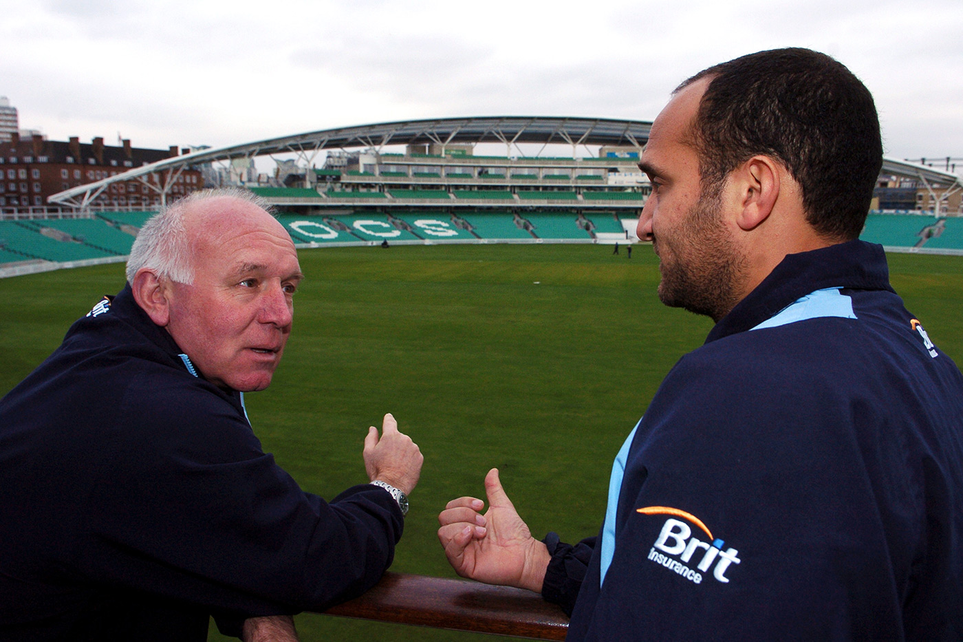 Alan and Mark Butcher at The Oval