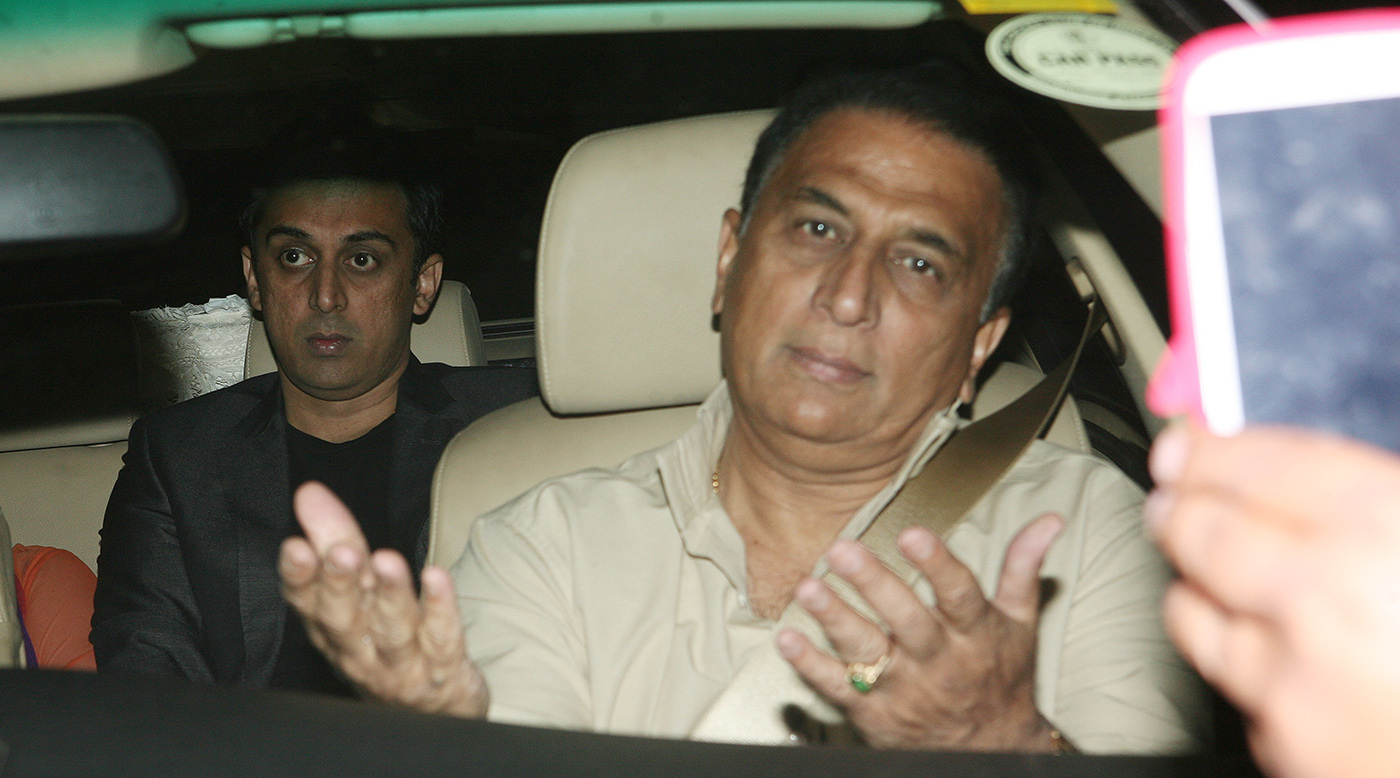 He could drive outside of a car as well. Sunil and Rohan Gavaskar, besieged by paparazzi in 2013