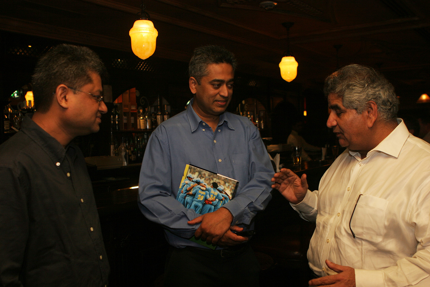 Rajdeep Sardesai (centre) at a book launch event in Mumbai
