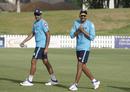 R Ashwin and Axar Patel share a laugh, Dubai, September 2, 2020