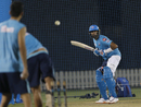 R Ashwin bats in the nets, Dubai, September 2, 2020