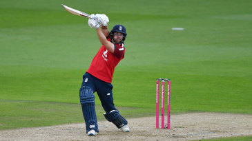 Dawid Malan opens the face on a drive