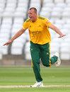 Luke Fletcher celebrates a wicket for Notts, Nottinghamshire v Leicestershire, Trent Bridge, Vitality Blast, September 4, 2020