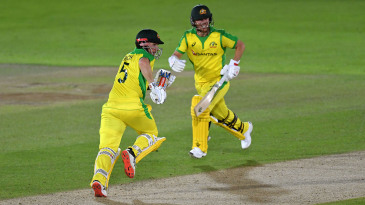 Aaron Finch and David Warner put on a 98-run opening stand