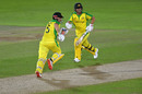 Aaron Finch and David Warner put on a 98-run opening stand, England v Australia, 1st T20I, Ageas Bowl, September 4, 2020