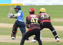 Mark Deyal puts away a reverse-sweep, St Lucia Zouks v Trinbago Knight Riders, CPL 2020, Tarouba, September 5, 2020