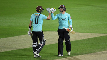 Ben Foakes and Jamie Smith shared an unbroken 93-run stand to steer Surrey to victory over Middlesex