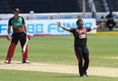 Pravin Tambe celebrates Joshua Da Silva's wicket, Trinbago Knight Riders v St Kitts and Nevis Patriots, Tarouba, CPL 2020, September 6, 2020