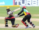 Tion Webster plays a sweep, Trinbago Knight Riders v St Kitts and Nevis Patriots, Tarouba, CPL 2020, September 6, 2020