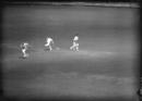 Warwickshire's Charlie Grove is run out by Middlesex's Michael Laws as Eric Hollies sprints to the other end, Middlesex v Warwickshire, County Championship, Lord's, August 30, 1948